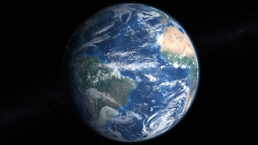 """Slowly rotating earth 360 4k, with alpha, seamless looping. Ultra high resolution allows you to zoom and pan. """"Elements of this image furnished by NASA"""""""