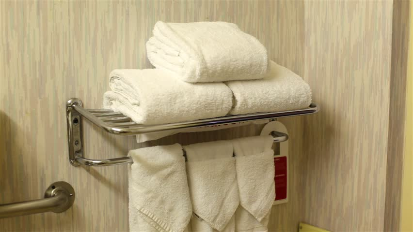 Beau Amazing Towel Setup In The Bathroom Of A Budget Motel. Stock Footage Video  6610862 |