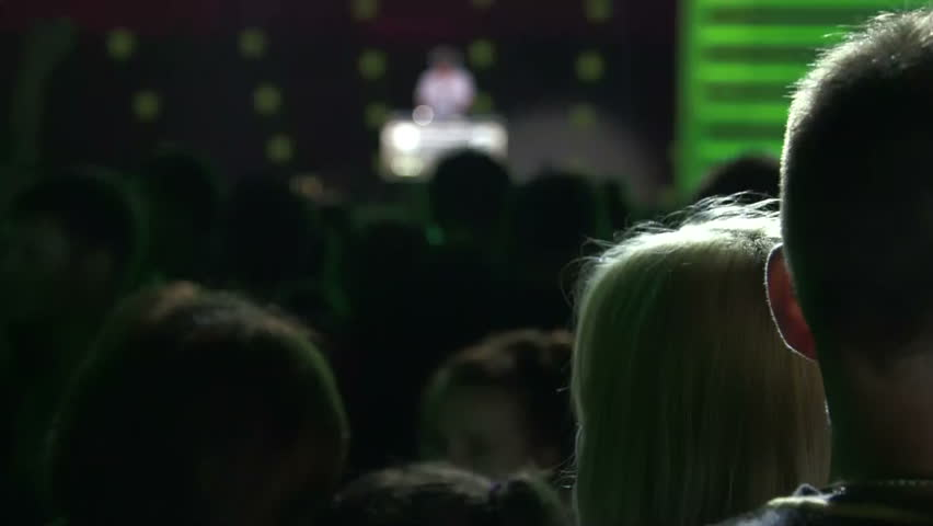 Crowd of fans at a concert DJ at night   Shutterstock HD Video #6632042