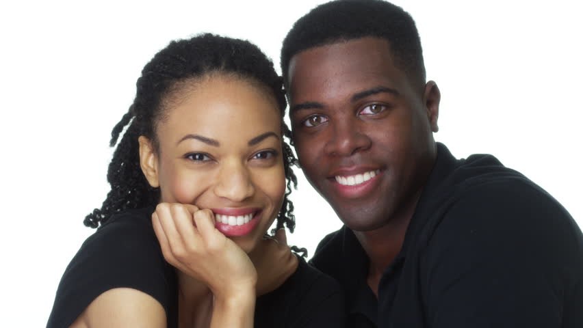 Happy Young Black couple looking at camera smiling | Shutterstock HD Video #6645818