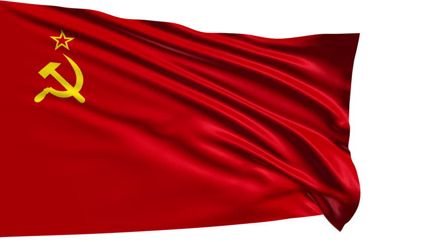 soviet union flag with fabric structure looping stock footage video 6650402 shutterstock