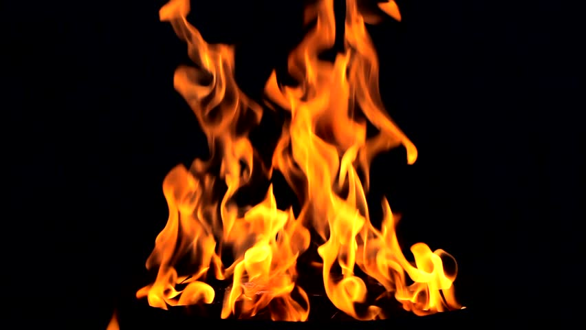 Fire flame on black background slow motion looping stock footage fire flame on black background looping time laps hd stock video clip voltagebd Choice Image