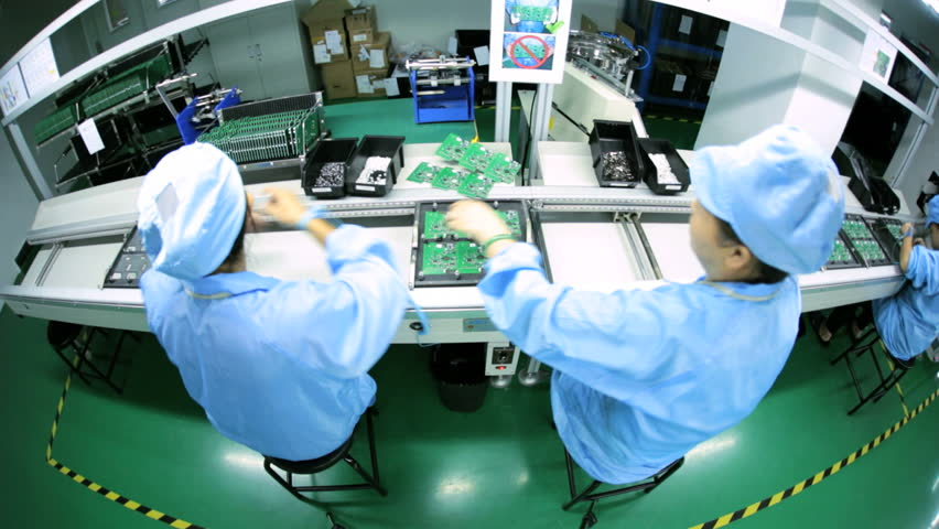 Electronic Assembly Workers : Bio lab and experiment stock footage video