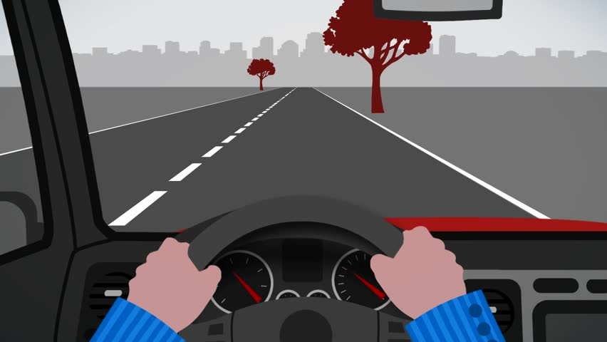 Car Driving Animation Pov Stock Footage Video 100 -6237