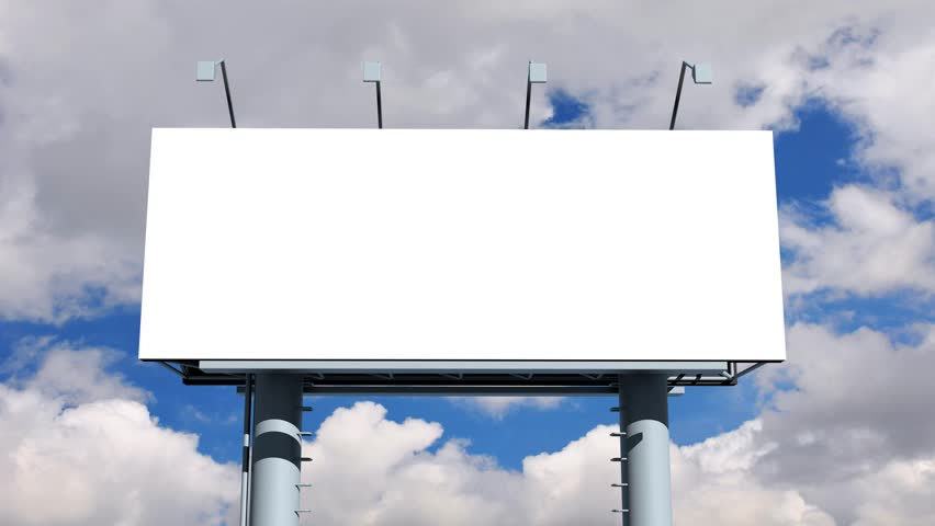 Billboard With Empty Screen Stock Footage Video 6804166