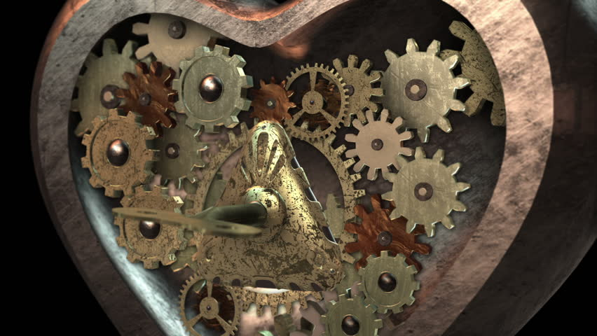 Inside 3d Steampunk Mechanism With Smoke Ideal For
