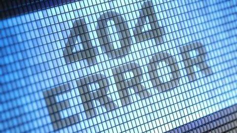 """404 error"" on screen. Looping."