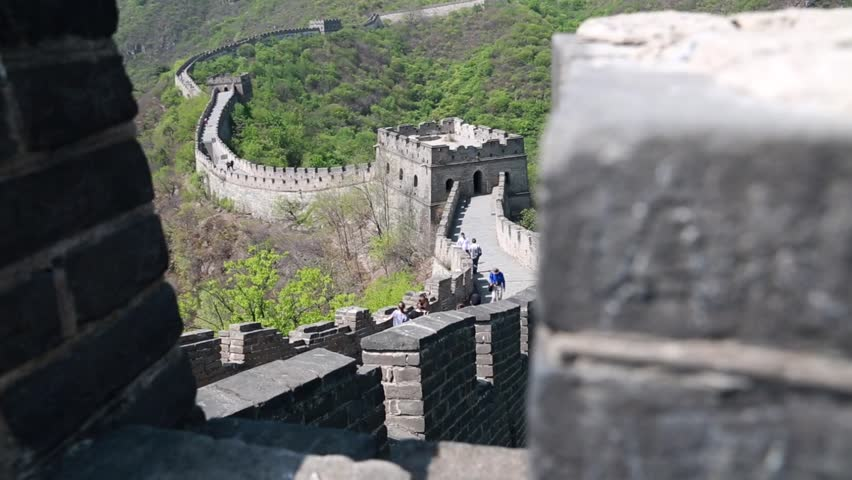The jiankou section of the great wall of china in near Beijing is completely unrestored and untouched with few tourists. Man made wonder of the world.