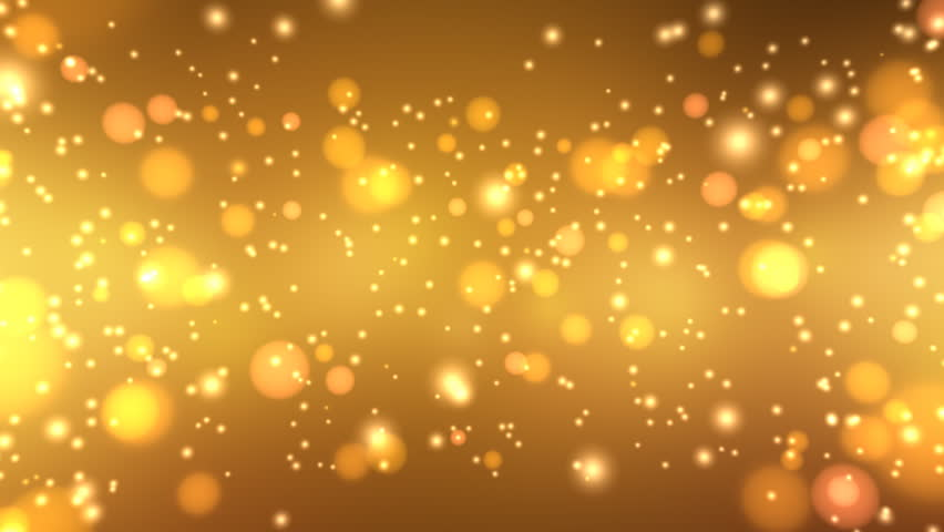 Golden Glitters - Motion Background 20 (HD) - 3D motion background with sparkling glitters. Seamless loop.
