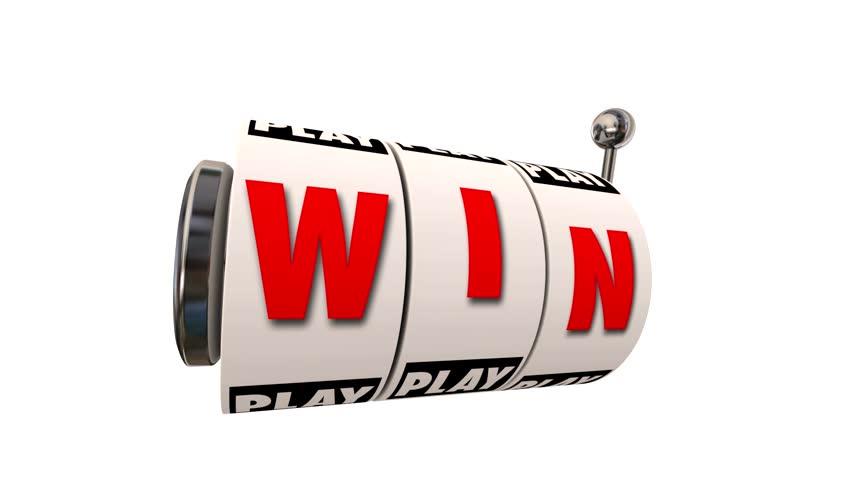 Win Letters Word Slot Machine Wheels Play Casino Gambling Game Big Jackpot