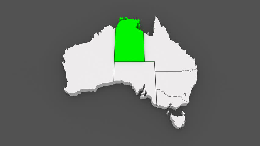 Map of Australia. 3d Stock Footage Video (100% Royalty-free ...
