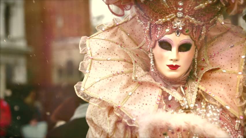 VENICE, ITALY MARCH 13: Participant in The Carnival of Venice, an annual festival in Venice, Italy.