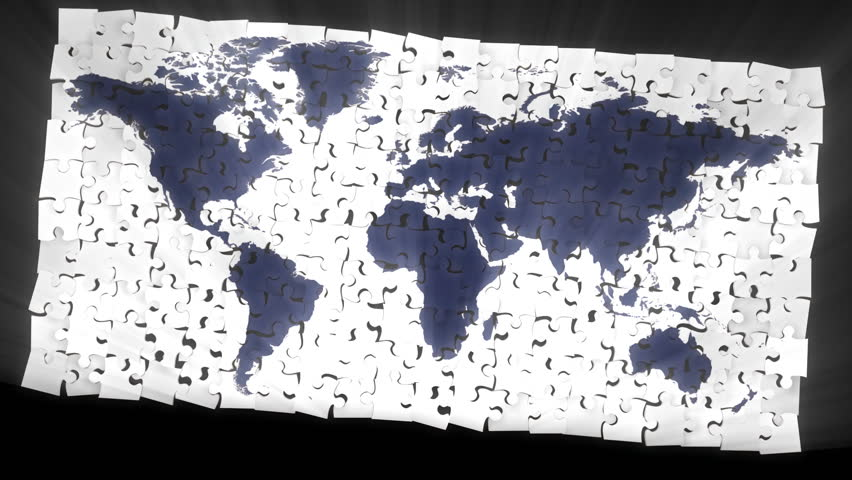 3d geopolitical map of the earth with all countries and their puzzle world map hd stock video clip gumiabroncs Images