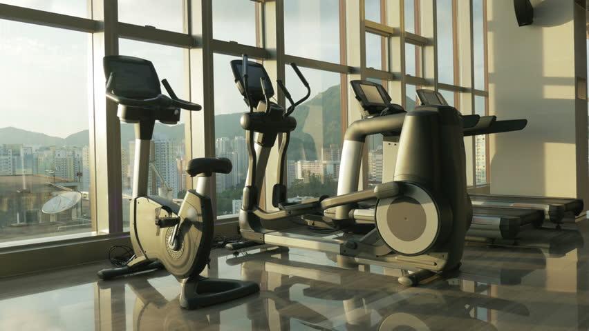 Gym room modern gym room stock footage video