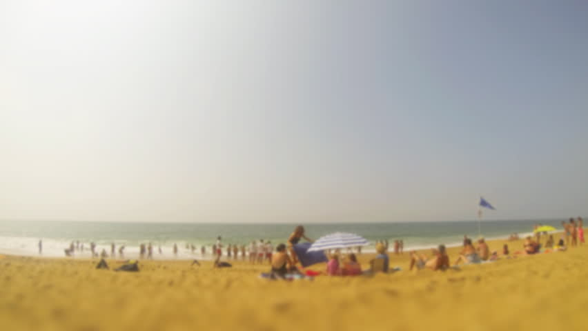 beach timelapse with blur effect