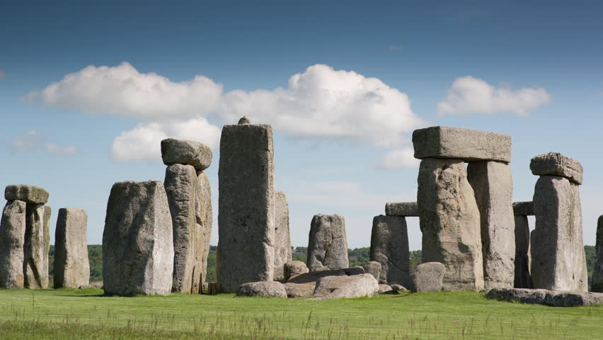 time lapse of the iconic and world famous stone henge monolithic site in wiltshire, england