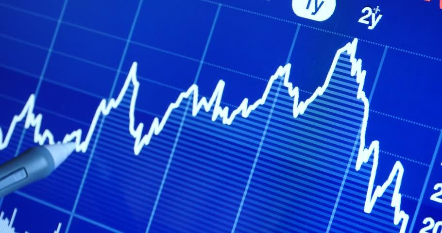 4k Finger pointing on financial trend diagram,finance business & economics,economy stock market. gh2_08262_4k | Shutterstock HD Video #6918382