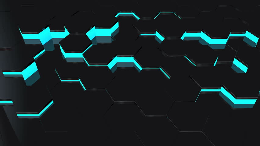 Stock Video Of Abstract Background With Moving Black Hexagons | 6941212 |  Shutterstock