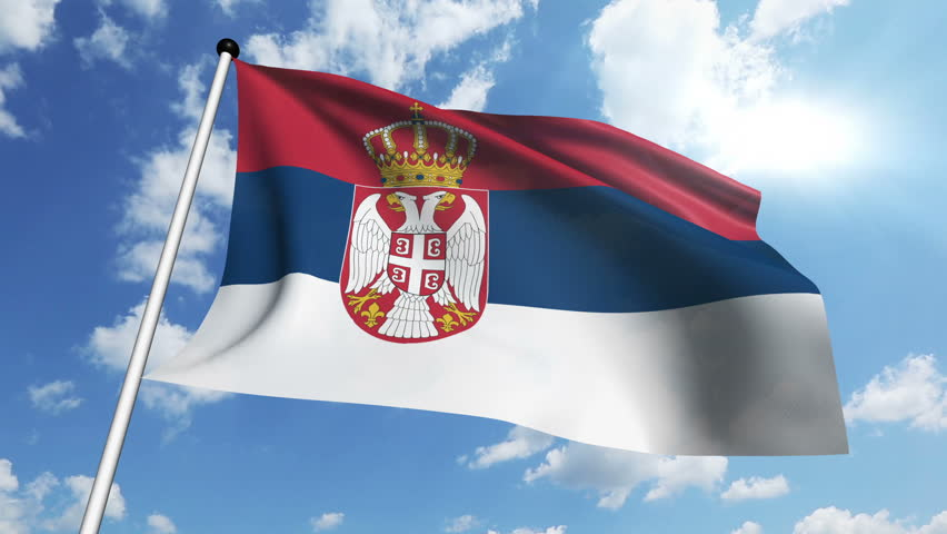 Flag Of Serbia Stock Footage Video | Shutterstock