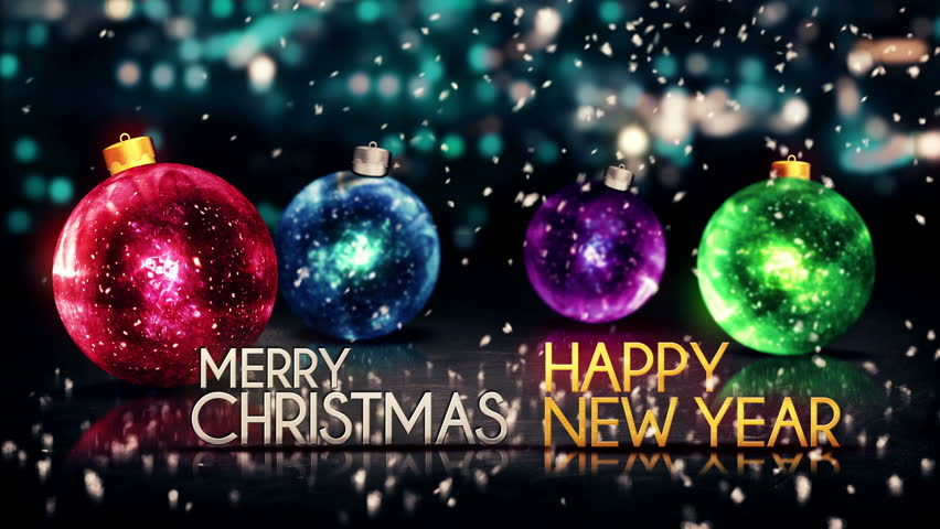 merry christmas happy new year colorful baubles background loop animation 4k resolution ultra hd uhd stock footage video 6949432 shutterstock