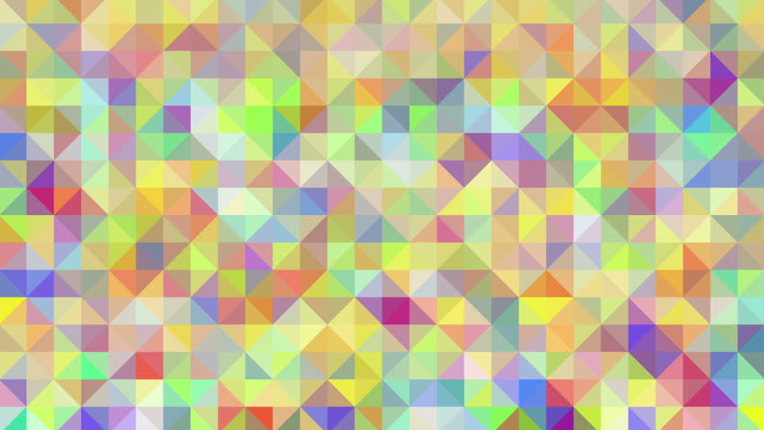 Abstract Background Loop Of Triangles In A Geometric Pixelated Mosaic Tile Pattern The Fit Into Square And Hexagon Shapes Multi Colored