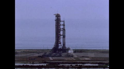 CIRCA 1960s - Apollo 11 launches from Kennedy Space Center Cape Canaveral in 1969.
