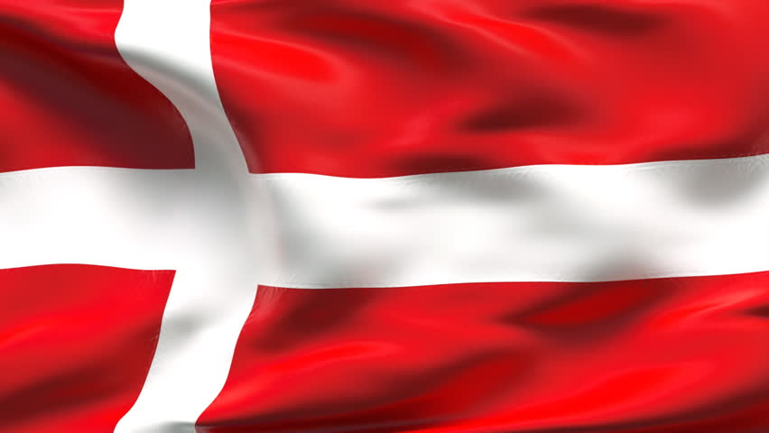 Creased Denmark satin flag with visible wrinkle and seams | Shutterstock HD Video #712282