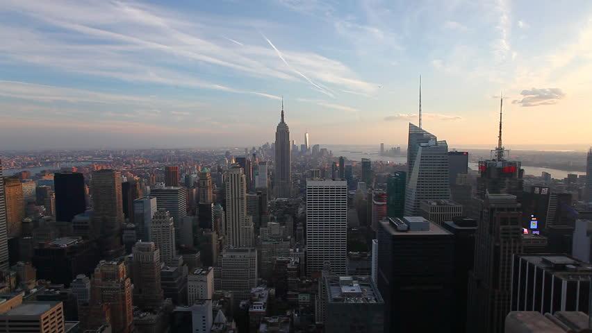 The New York Skyline at dusk | Shutterstock HD Video #7129492