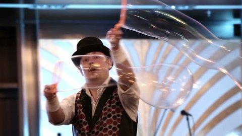 Soapbubble show at the festival.