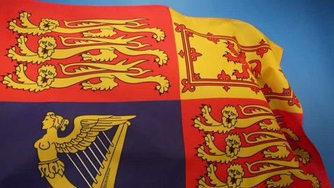 Royal Standard of the United Kingdom - used by Queen Elizabeth II in her capacity as Sovereign of the United Kingdom and its overseas territories.