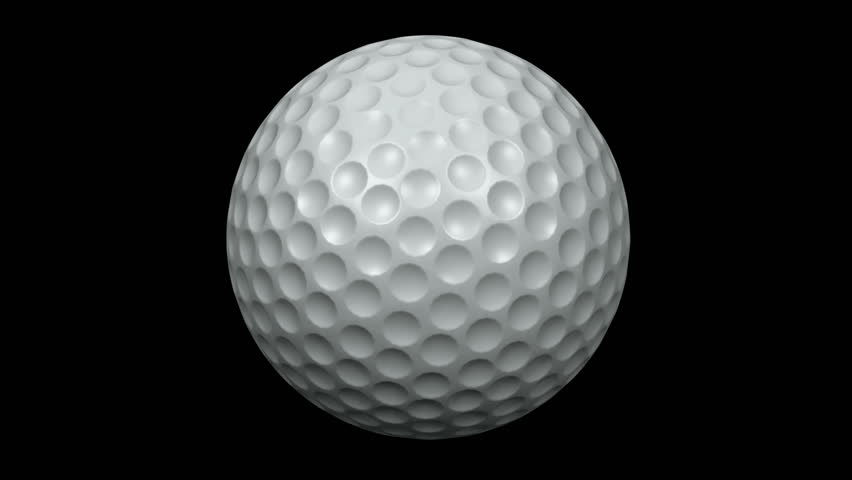 seamless loop golf ball animation stock footage video 100