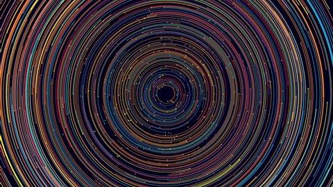 Loopable circular pattern of color rings rotating