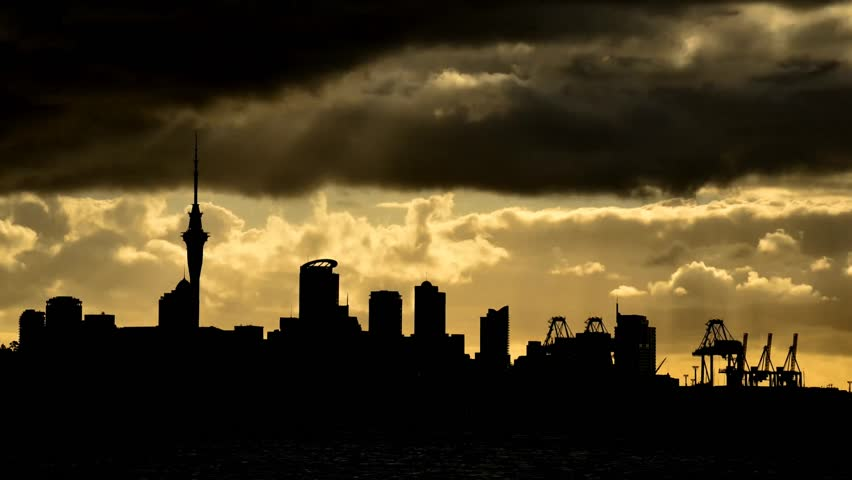 The skyline of johannesburg south africa at sunset from a sports sunset over auckland silhouetted time lapse hd stock footage clip thecheapjerseys Image collections