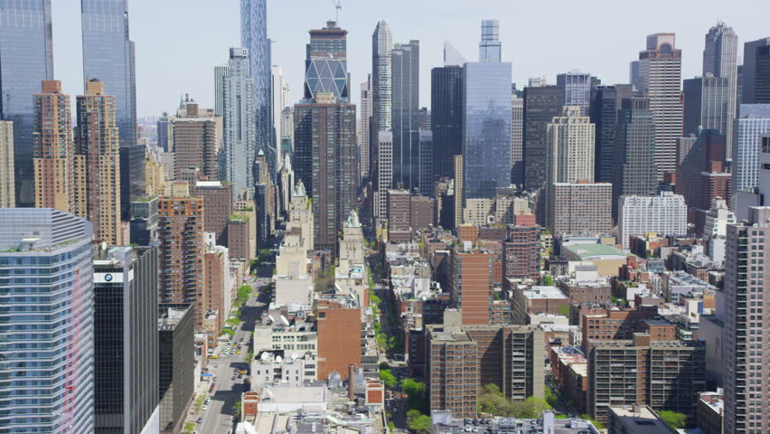 Aerial view of New York City cityscape and skyscrapers. | Shutterstock HD Video #7245562