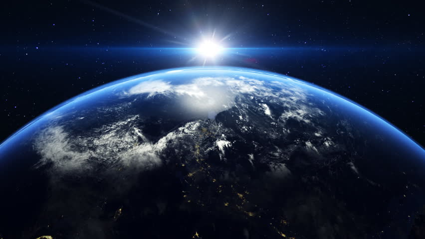 The Sun Rising Over The Earth In Space Stock Footage Video 3750389 ...