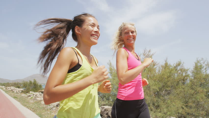 Exercise Running Women Jogging Happy Stock Footage Video 100 Royalty Free 7291522 Shutterstock