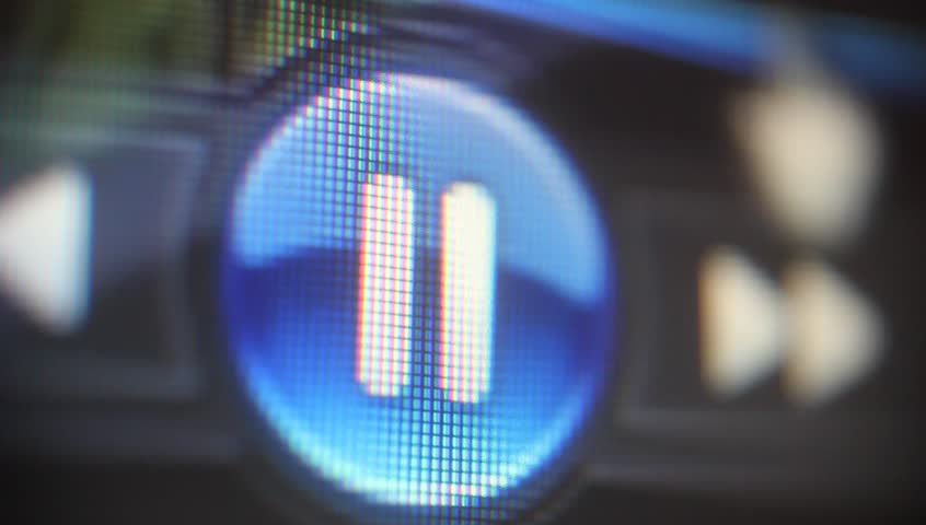 Clicking play button on computer screen   Shutterstock HD Video #7329652