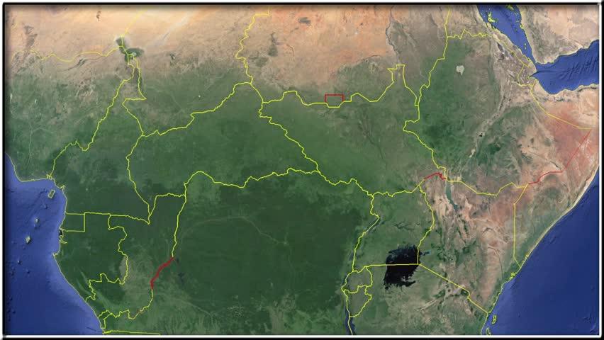 Uganda Flag And Map Animation Stock Footage Video - Uganda map hd