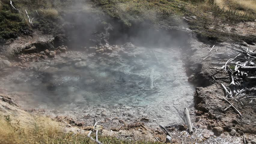 Hot Thermal Pool in Yellowstone National Park