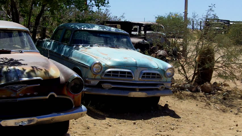 Hackberry Arizona Usa June Old Vintage Sedans Family