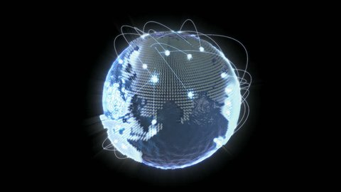 Due to globalization, the world gets connected. The international relations in politics, economics and techonlogy are a network of communication. The 3D visualisation shows the flow of information.