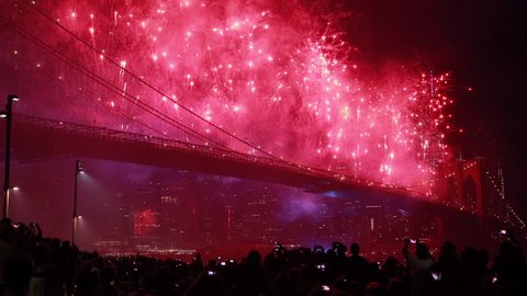 July 4th fireworks in New York City 2014