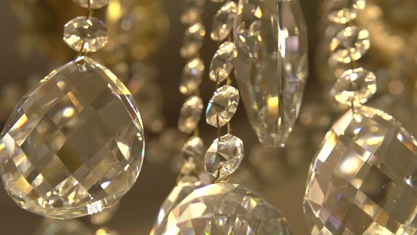 Crystal Chandelier. Full HD 1080 Video Footage. Stock Footage ...