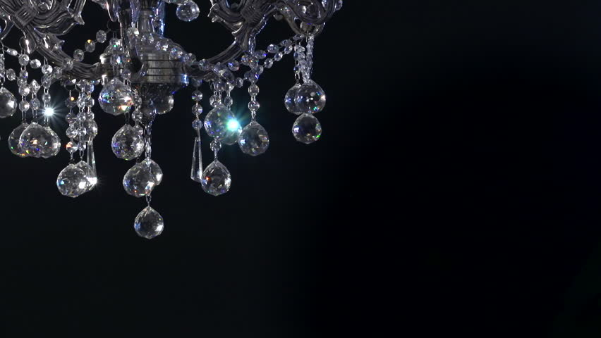 Crystal chandelier on black background crystals sway and sparkle crystal chandelier on black background crystals sway and sparkle stock footage video 7478512 shutterstock aloadofball Image collections