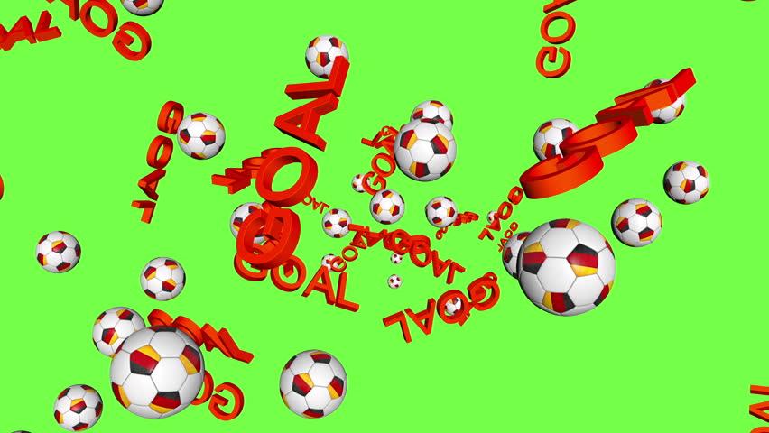 German soccer ball, celebrating GOAL on green   Shutterstock HD Video #7482022