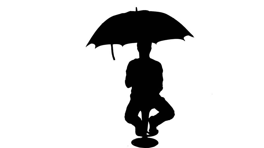 umbrella playing man silhouette 1080p silhouette of a