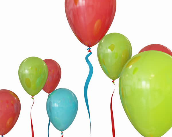Happy Birthday Animated Balloons