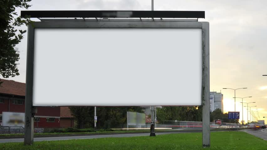 Billboard on highway by day. | Shutterstock HD Video #7563064