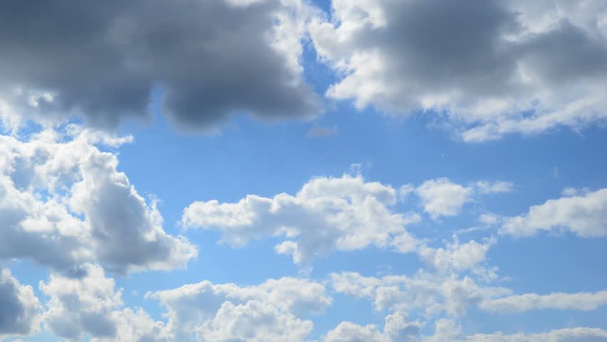 Time-lapse of moving clouds on blue sky  | Shutterstock HD Video #7578508
