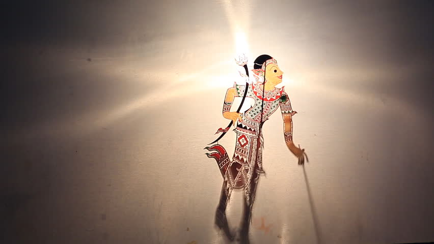SURATTHANI, THAILAND -October 11 :  Shadow show or namg-ta-loong  the traditional performed  in southern of Thailand, October 11, 2014,Suratthani province Thailand. #7585612